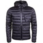Barbour International Mens Black Ouston Hooded Quilted Jacket