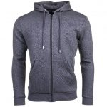 BOSS Mens Medium Grey Loungewear Quilted Hooded Sweat Top