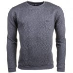 BOSS Mens Medium Grey Loungewear Quilted Crew Sweatshirt