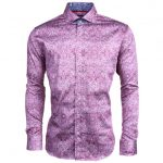 Jiggler Lord Berlue Mens Burgundy Coltran L/s Shirt