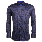 Jiggler Lord Berlue Mens Navy & Black Costelo L/s Shirt