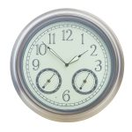 LED Battery Night Glow Wall Clock, 17.7″