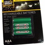 Smart Garden Solar Rechargeable Batteries, AAA 400 mAh, 4 Pack