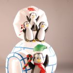 1.4m Outdoor Inflatable Igloo & Penguin Family Christmas Decoration