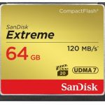 SanDisk Extreme 120MB/sec 800x Compact Flash Card – 64GB