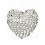 10cm Sparkling Heart Hanging Decoration