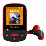 SanDisk Clip Sport MP3 Player 4GB – Red (Refurbished)