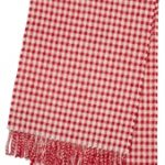 Merino Wool Honeycomb Red Scarf
