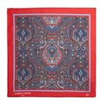 Paisley Pocket Square Red
