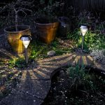 Luxform Solar Garden Stake Lights with Battery Back Up
