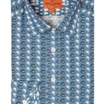 Blue Hat Print Shirt