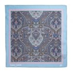 Paisley Pocket Square Light Blue