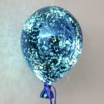 Hanging Battery Mercury Glass LED Balloon, Blue