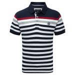 Alexander Mens Polo Shirt Navy Stripe