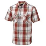Altus Mens Shirt Rust Red Check