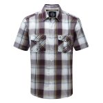 Altus Mens Shirt Plum Check