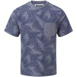 Aston Mens Tcz T-Shirt Dark Midnight Fern Print