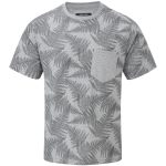 Aston Mens Tcz T-Shirt Grey Marl Fern Print