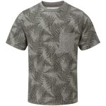 Aston Mens Tcz T-Shirt Dark Olive Fern Print