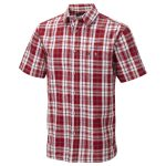 Avon 2 Mens Shirt Rust Red Check
