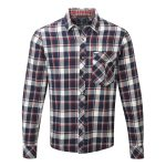 Baker Mens Shirt White Check