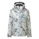 Bliss Womens Milatex Jacket White Camo