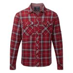 Buddy Mens Double Weave Shirt Red Check