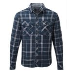 Buddy Mens Double Weave Shirt Navy Check