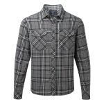 Buddy Mens Double Weave Shirt Dark Anthracite Check