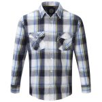 Cirrus Mens Tcz Cotton Long Sleeve Shirt Dark Midnight Check