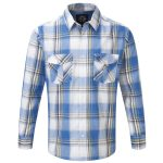 Cirrus Mens Tcz Cotton Long Sleeve Shirt Captain Blue Check
