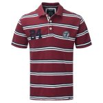 Connor Stripe Mens Deluxe Polo Shirt Rio Red