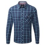 Dan Mens Tcz Cotton Deluxe Shirt Ice Blue