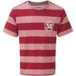 Miller Mens Deluxe Stripe T-Shirt Rio Red/Rio Red Marl