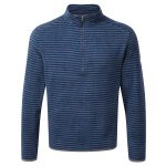 Modena Mens Tcz 100 Zip Neck Dark Midnight Stripe
