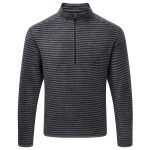 Modena Mens Tcz 100 Zip Neck Jet Grey Stripe