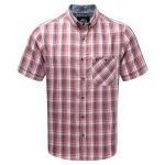 Nile Mens Mcs Blocker Short Sleeve Shirt Rio Red Check
