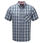 Nile Mens Mcs Blocker Short Sleeve Shirt Dark Midnight Check