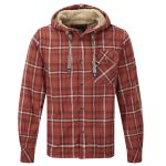 Ottowa Mens Tcz Fleece Lined Shirt Rust Red Check