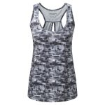 Pace Womens Tcz Stretch Run Vest Black Print