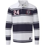 Richie Mens Rugby Shirt White/Dark Midnight Stripe