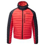 Solaris Mens Down Jacket Fire Red/Black