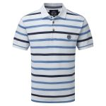 Space Stripe Mens Polo Shirt White