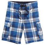 Tonga Mens Boardshorts New Blue Check