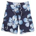 Tonga Mens Boardshorts Dark Midnight Flower
