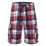 Tonga Mens Swimshorts Rio Red Check