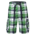 Tonga Mens Swimshorts Shamrock Check