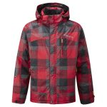 Trident Mens Milatex Ski Jacket Bright Red Check