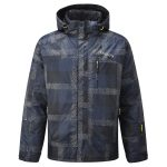 Trident Mens Milatex Ski Jacket Mood Blue Check
