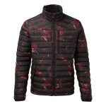 Zenon Mens Down Jacket Red Camo